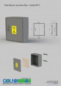 Golnix pole mount junction box AP1