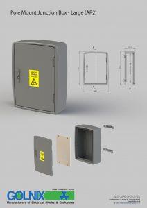 Golnix pole mount junction box AP2