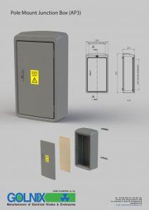 Golnix pole mount junction box AP3